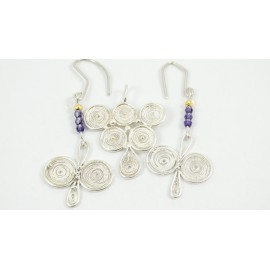 Sterling silver and pure filigree pendant Sweet Grapes