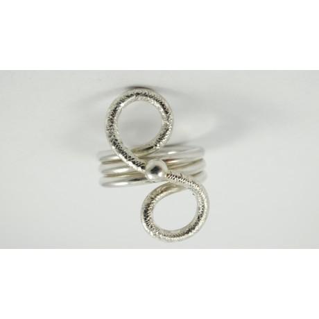 Inel Fussy Shift, Bijuterii de argint lucrate manual, handmade