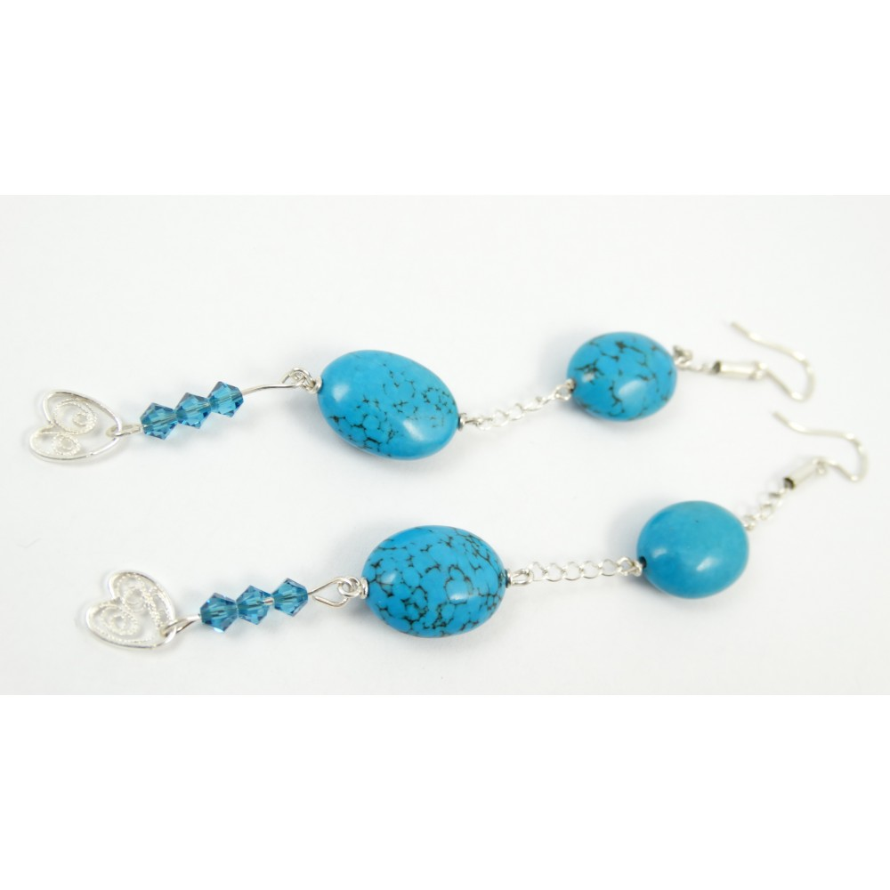 Sterling silver earrings Light Blues