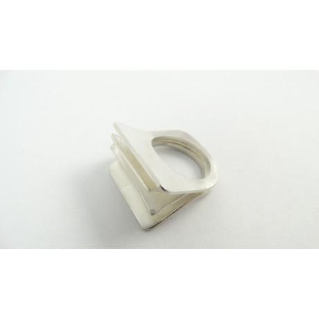 Sterling silver ring Flipping Cards, Bijuterii de argint lucrate manual, handmade