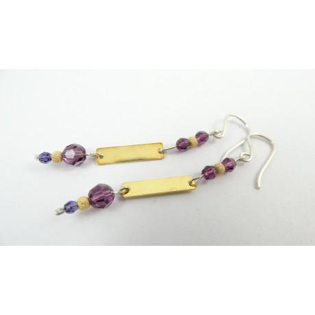 Sterling silver earrings Lovelish, Bijuterii de argint lucrate manual, handmade
