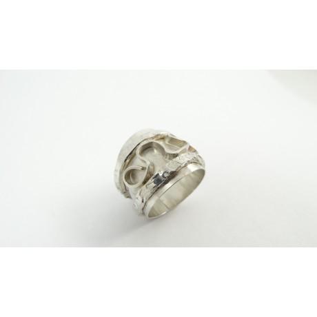 Sterling silver ring Free Vibe, Bijuterii de argint lucrate manual, handmade