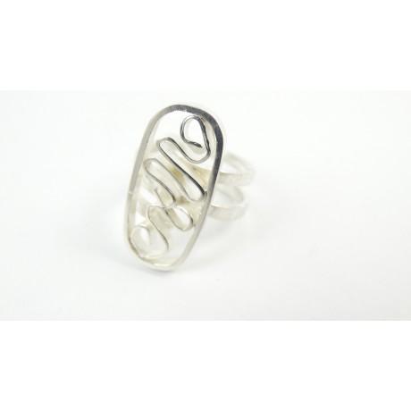 Inel Randomize , Bijuterii de argint lucrate manual, handmade