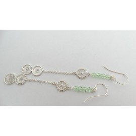 Sterling silver and pure filigree earrings Contessina