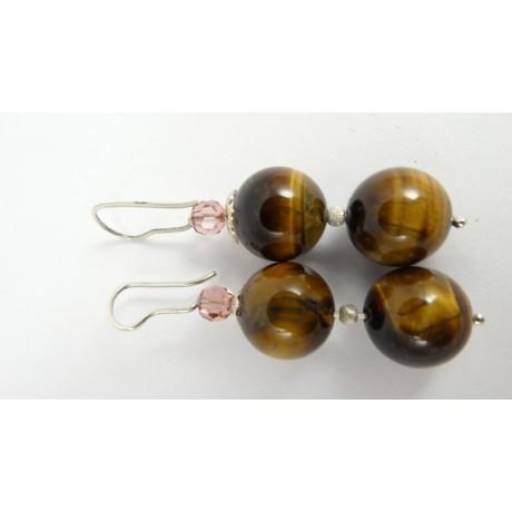 Sterling silver earrings Hazel Bay, Bijuterii de argint lucrate manual, handmade
