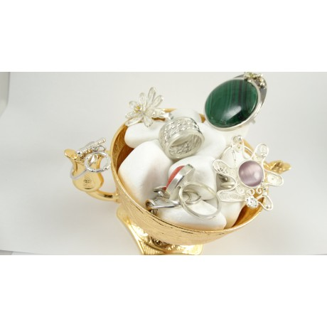 Sterling silver ring L'Isle Verte du Memoir, Bijuterii de argint lucrate manual, handmade