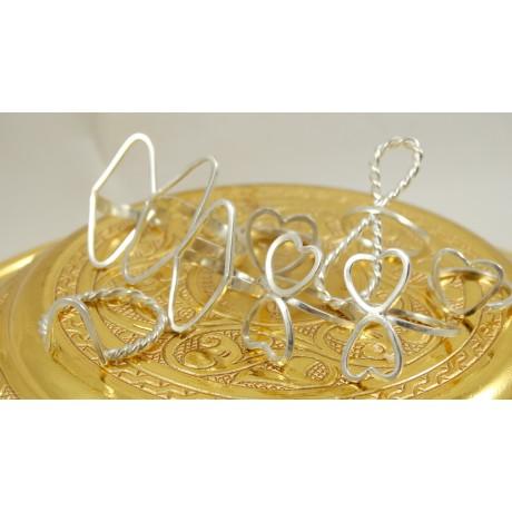 Sterling silver rings Will U B My Valentine, Bijuterii de argint lucrate manual, handmade