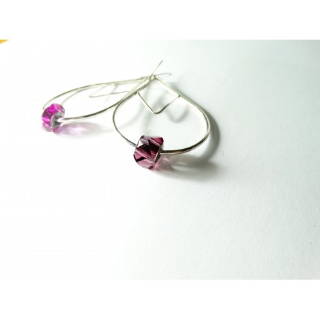 Sterling silver earrings Choicest Morsel, Bijuterii de argint lucrate manual, handmade