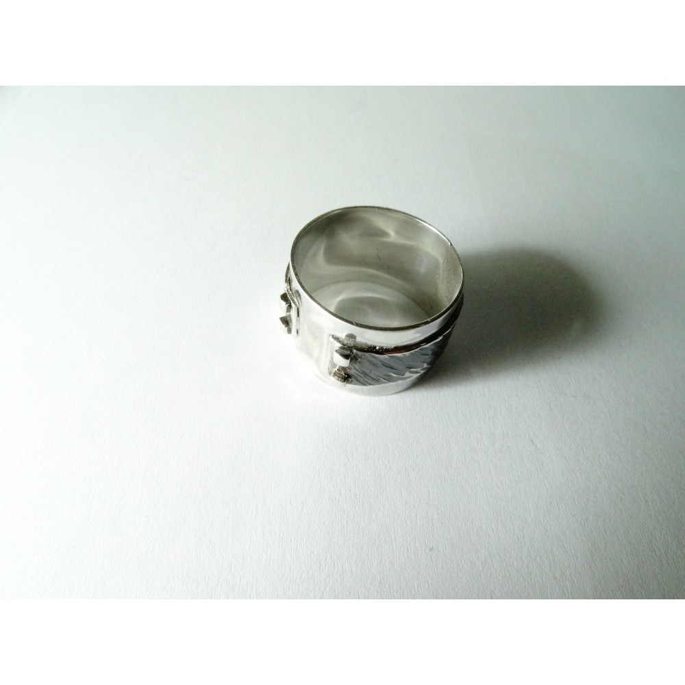 Sterling silver ring Man's Turf