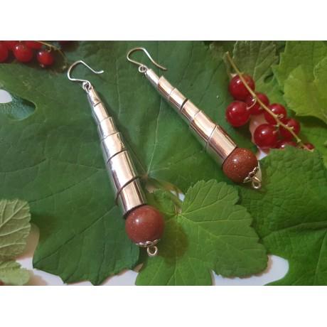 Sterling silver Earrings Bovolo, Bijuterii de argint lucrate manual, handmade
