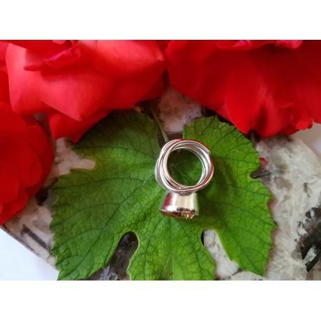 Sterling silver ring Sun Link, Bijuterii de argint lucrate manual, handmade