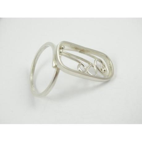 Sterling silver ring Paint, Bijuterii de argint lucrate manual, handmade