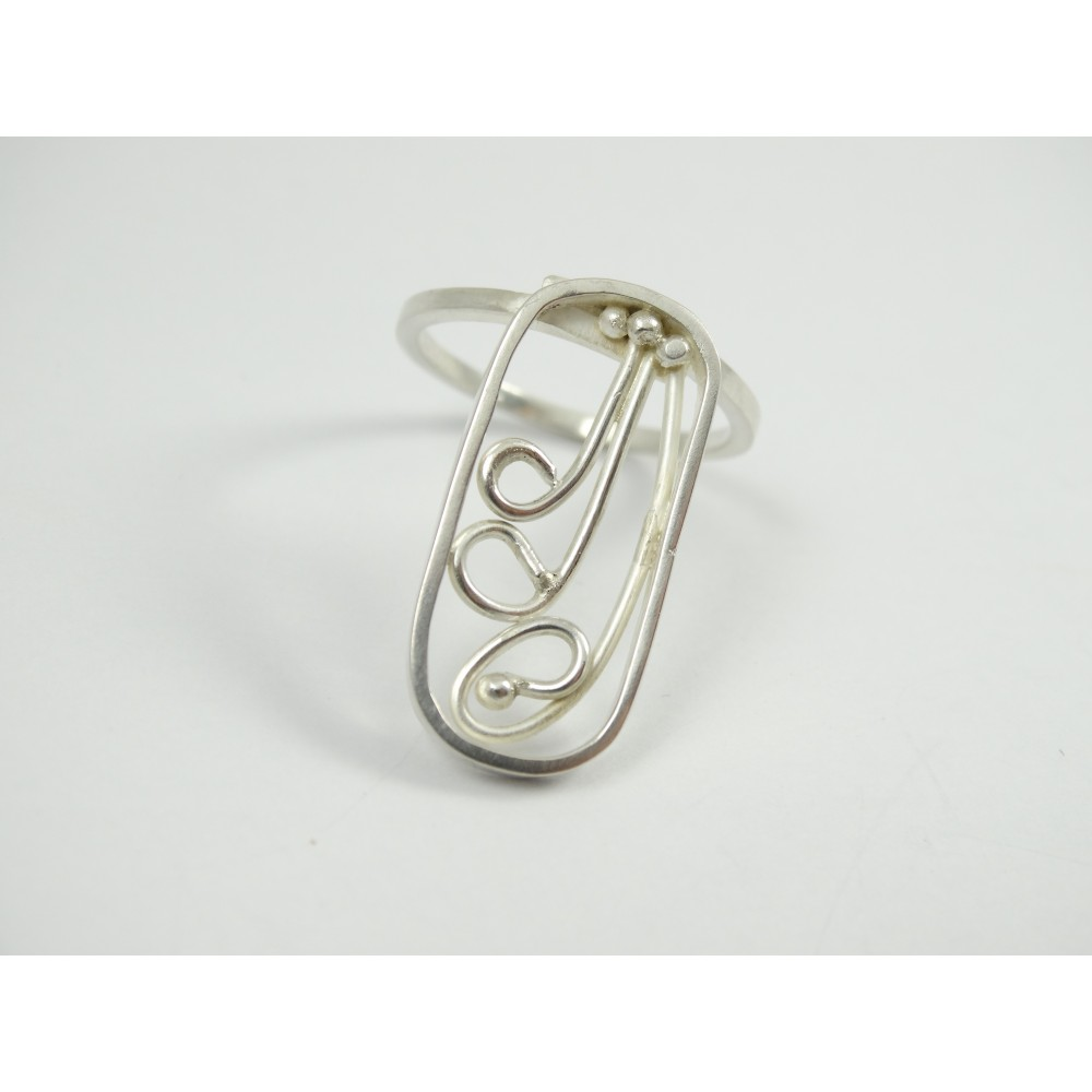 Sterling silver ring Paint