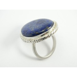 Sterling silver ring L'Esprit de Reve with large natural lapislazuli