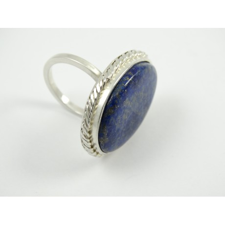 Sterling silver ring L'Esprit de Reve with large natural lapislazuli, Bijuterii de argint lucrate manual, handmade