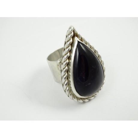 Sterling silver ring L'Esprit de Plaisir with large natural amethyst, Bijuterii de argint lucrate manual, handmade