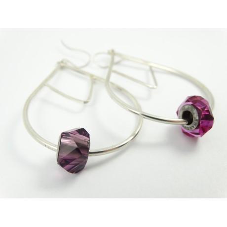 Sterling silver earrings Choicest Morsel, Bijuterii de argint lucrate manual, handmade