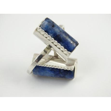 Sterling silver ring Lapis MOOD, Bijuterii de argint lucrate manual, handmade