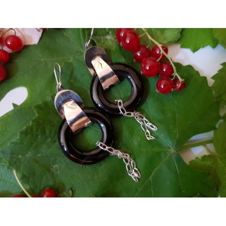 Sterling silver Earrings Dark Emotions, Bijuterii de argint lucrate manual, handmade