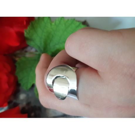 Sterling silver ring Caressive, Bijuterii de argint lucrate manual, handmade