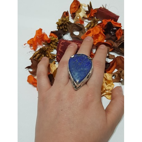 Large Sterling silver ring Lush Treasure, Bijuterii de argint lucrate manual, handmade