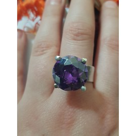 Sterling silver ring Purple Fever