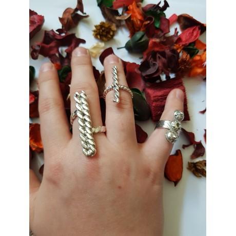 Sterling silver rings Fuze Entwine Spin , Bijuterii de argint lucrate manual, handmade