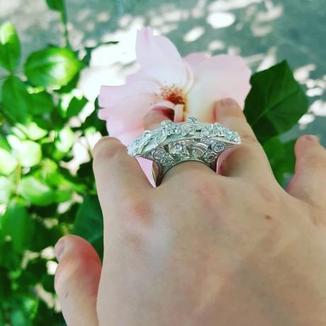 Large Sterling Silver jewel MAJESTY, Bijuterii de argint lucrate manual, handmade