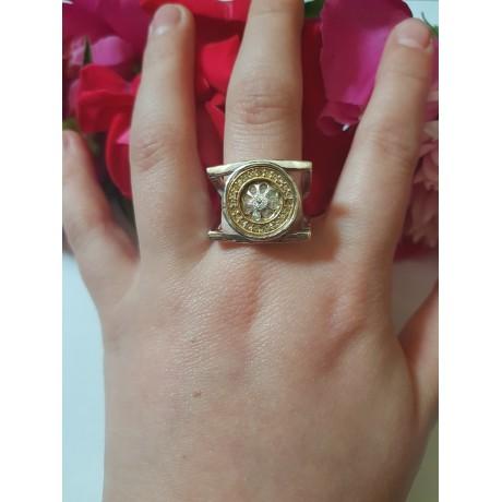 Sterling silver ring GlowBite, Bijuterii de argint lucrate manual, handmade