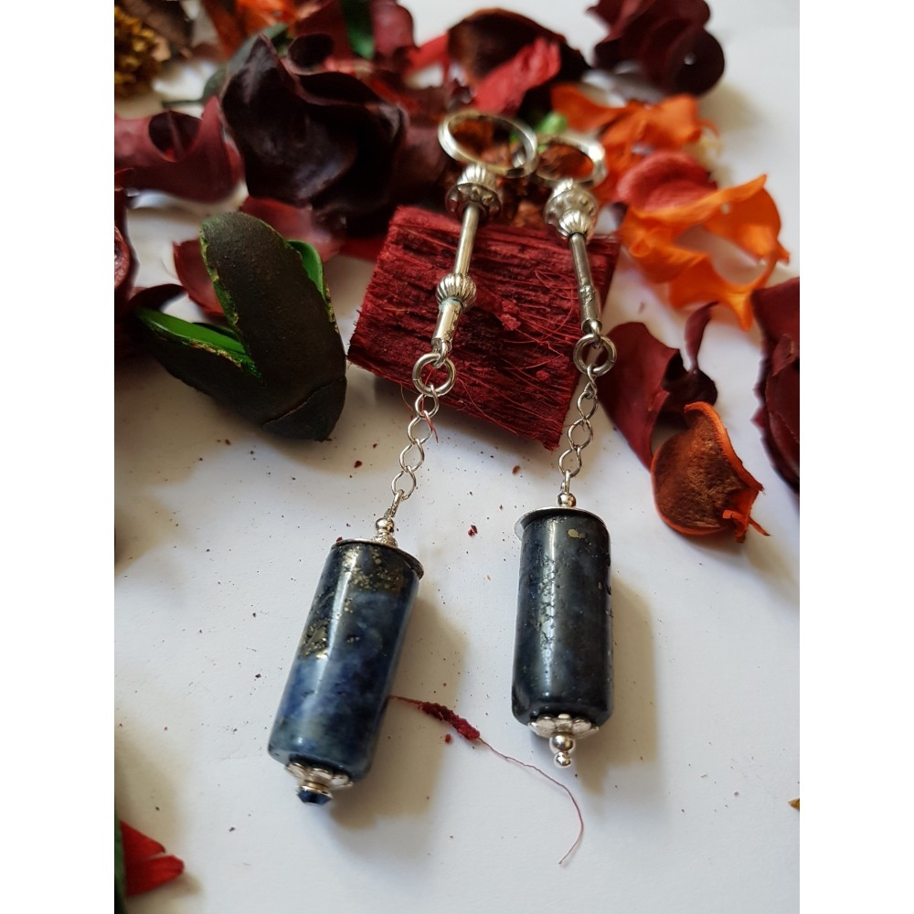Sterling silver Earrings Blue Sway
