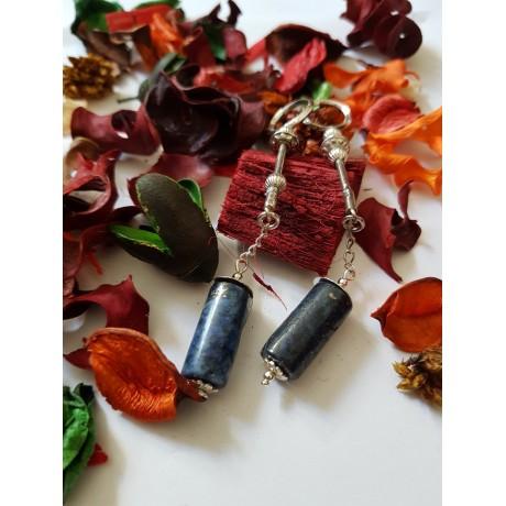 Sterling silver Earrings Blue Sway, Bijuterii de argint lucrate manual, handmade