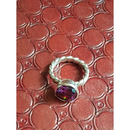 Sterling silver ring Purple Times