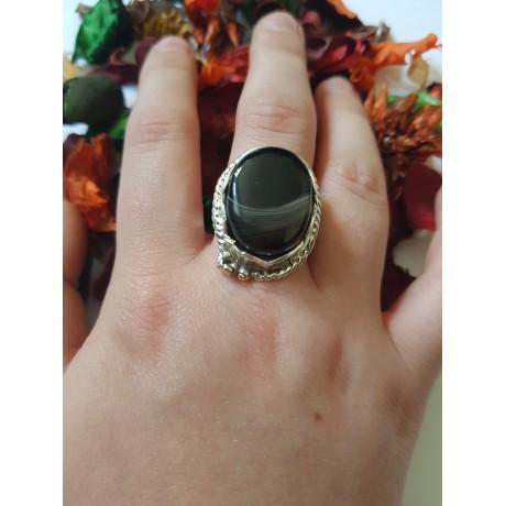 Sterling silver ring Sense Defense, Bijuterii de argint lucrate manual, handmade