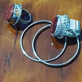 Cercei handmade din argint 925 Choicy Hoops , Bijuterii de argint lucrate manual, handmade