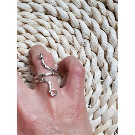 Sterling silver ring Summer Vademaecum, Bijuterii de argint lucrate manual, handmade
