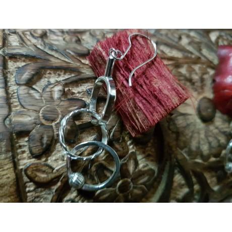 Sterling silver Earrings Glow lingers on, Bijuterii de argint lucrate manual, handmade