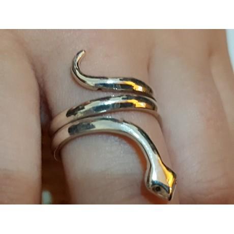 Sterling silver ring Love Snake, Bijuterii de argint lucrate manual, handmade