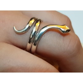 Sterling silver ring Love Snake
