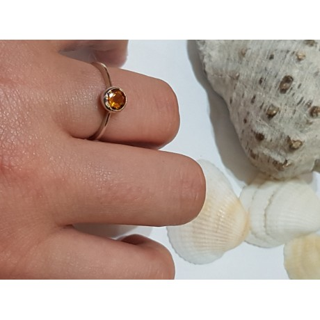 Sterling silver ring with natural garnet Love Match Makers, Bijuterii de argint lucrate manual, handmade