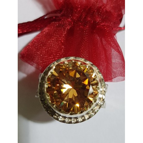 Sterling silver ring with 14k gold Route to LOVE, Bijuterii de argint lucrate manual, handmade