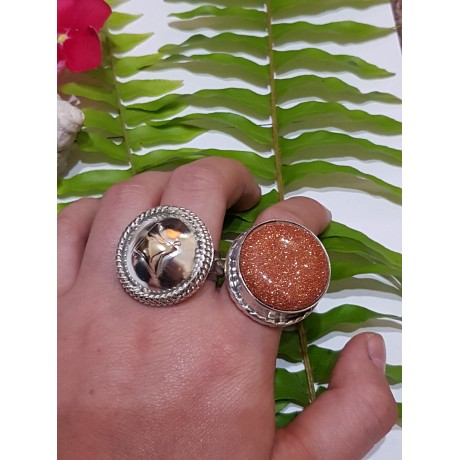 Massive Sterling silver ring with 14k gold Prelude to Trangression, Bijuterii de argint lucrate manual, handmade