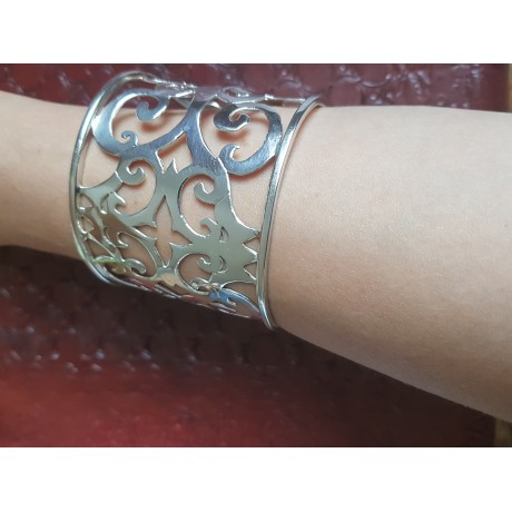 Silver bracelet, Bijuterii de argint lucrate manual, handmade