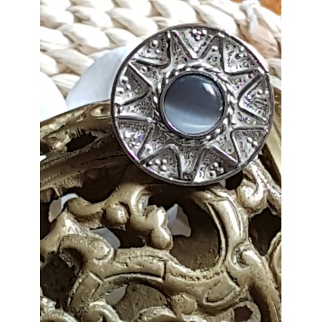 Large Sterling silver ring Light Pitch, Bijuterii de argint lucrate manual, handmade