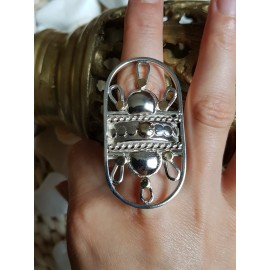 Large Sterling silver ring Revelry of Senses  GRAZIA AUREA,  handmade by Ibralhoff