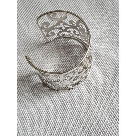Sterling silver cuff Clutchable, Bijuterii de argint lucrate manual, handmade
