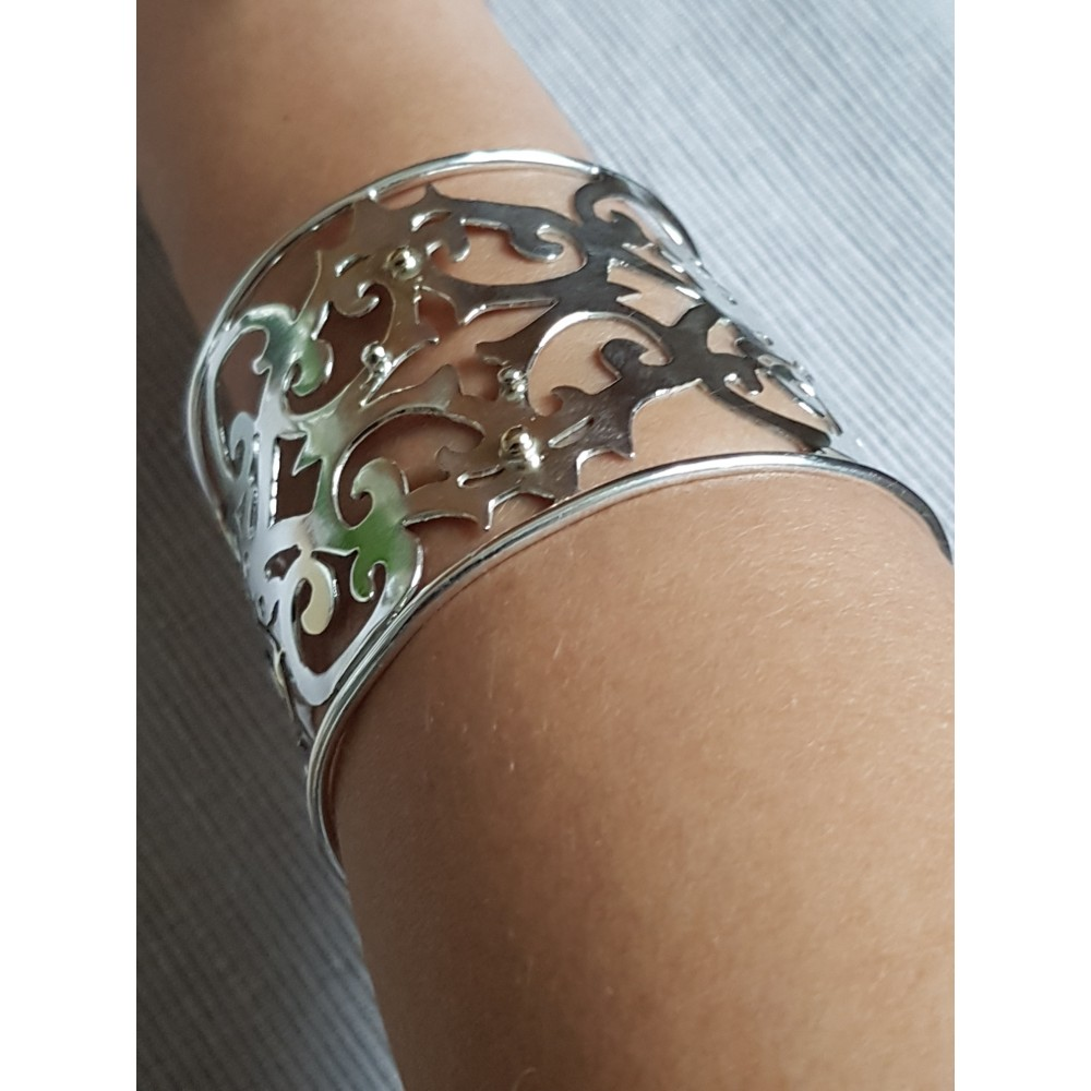 Sterling silver cuff Clutchable