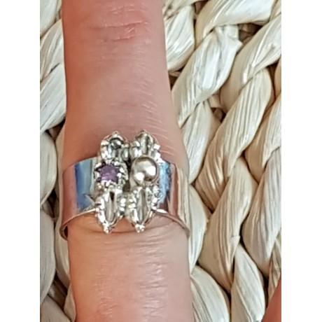 Sterling silver ring Sappy Dapper, Bijuterii de argint lucrate manual, handmade