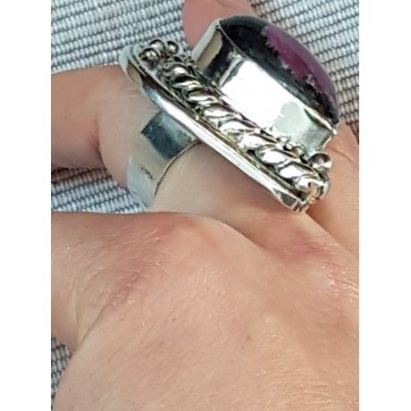 Large massive Sterling silver ring with natural Ruby Agate, Bijuterii de argint lucrate manual, handmade