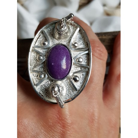 Massive Sterling silver ring with natural jade, Bijuterii de argint lucrate manual, handmade