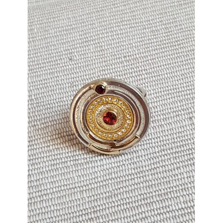 Sterling silver rings with gold, garnet and rubies, Bijuterii de argint lucrate manual, handmade